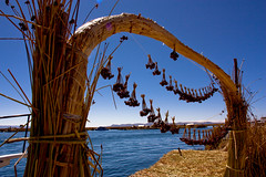 Charms drying in the Breeze (MacJewell) Tags: travel uros titicaca southamerica reeds islands honeymoon altitude floating exotic lagotiticaca charmsperu