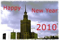 Happy New Year 2010 ! (Jarosaw Pocztarski) Tags: happy newyear warsaw warszawa happynewyear 2010 pkin nowyrok paackulturyinauki szczliwegonowegoroku thepalaceofculture