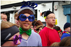 loony dook 2009 (Photography by Peter Stanford) Tags: new uk cold water swim glasses scotland edinburgh day south year bowtie years fancydress stunt dook lothian 2010 queensferry loony