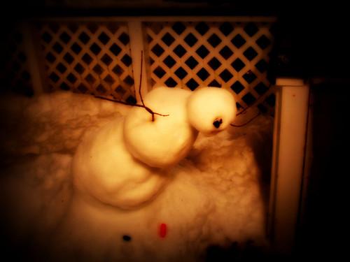 a snowman death