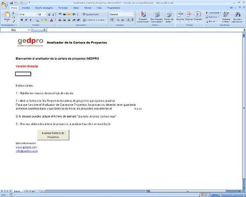 analizador de cartera de proyectos