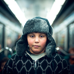 Kid (TGKW) Tags: boy portrait people paris public hat train underground subway kid child metro bokeh expression transport tube explore frontpage 4081 brutaldof
