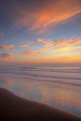 Ocean Beach Reflection HDR (wong_jordan) Tags: ocean sf sanfrancisco sunset reflection beach clouds san francisco waves bayarea hdr citybythebay highdynamicrangephotography