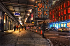 Meat Packing District at Night, NYC (WanderingtheWorld (www.ChrisFord.com)) Tags: city nyc newyorkcity urban newyork night photography lights high soft glow dynamic unique details surreal meatpackingdistrict range hdr standardhotel meatpacking postprocessing