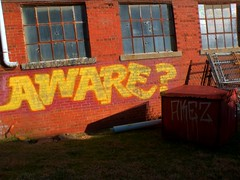 Aware? (loganbertram) Tags: urban brick abandoned photography graffiti nc factory north carolina logan hdr bertram hillsborough loganbertram loganbertramphotography
