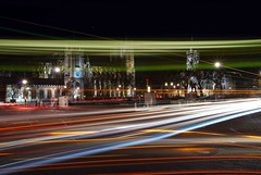 Parliament Square overrun, London (Mo Baig) Tags: city longexposure trafficlights london westminster westminsterabbey architecture night nikon cityscape traffic parliament parliamentsquare lighttrails allrightsreserved lovelycity nikond40x sigma18200mmoshsm nikonflickraward nikonflickrawardgold nikonflickrawardplatinum mobaig