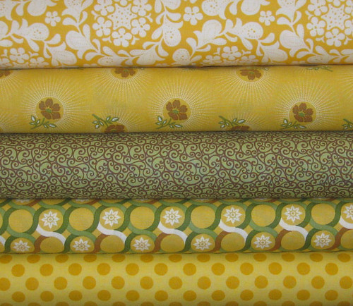 Joel Dewberry, Michael Miller, Sandi Henderson, and Genevieve Gail Fabric Bundle, 5