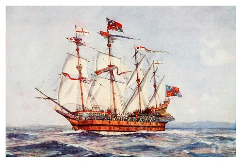 001a- Otra vista del Henri Gracia de Dios de 1501-The Royal Navy (1907)- Norman L. Wilkinson