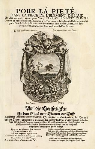 007- Divisa del tapiz el aire para la piedad-Tapisseries du roy, ou sont representez les quatre elemens 1690- Sebastien Le Clerc
