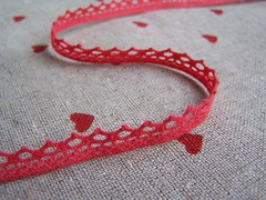 red crochet lace