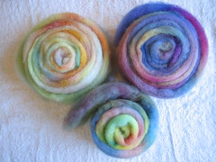 rainbow dyed fiber for spinning