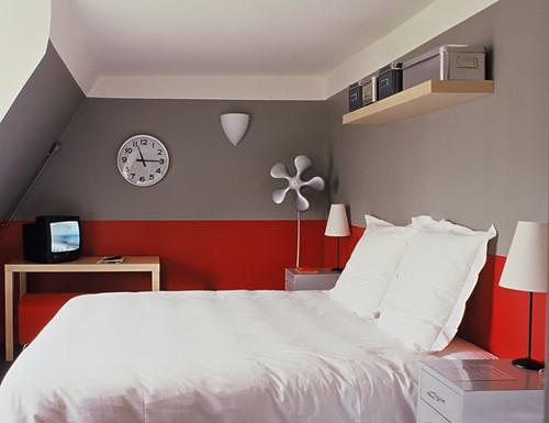 Grey And Red Bedrooms Grey Bedroom