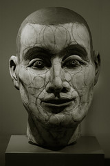 Circled Head (Leo Reynolds) Tags: bw sculpture art photoshop canon eos iso3200 7d duotone 60mm scva f32 0008sec hpexif leol30random groupsepiabw xleol30x xxx2010xxx