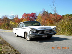 New England Foliage & my '59 BUICK (sixty8panther) Tags: usa classic cars face car sedan boat buick cool scary inch automobile gm post yacht body antique massachusetts awesome tail wing twin delta headlights double grill tires foliage chrome american angry fisher land 1958 motor grille mad lesabre fin wildcat sled invicta lead coupe turbine electra 59 401 whitewall 1959 tailfin lowell tailfins nailhead headlamps dagmar 225 drawerpull cubic displacement tripple designation canted 425 364 twodoor b59 bubbletop 2dr 4411 sooc biasply dynaflow kframe buickmotordivision