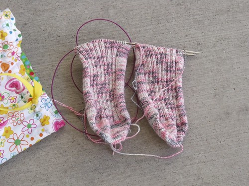 Toe up stretch socks