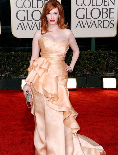 christina hendricks weight. Christina Hendricks - Globes1