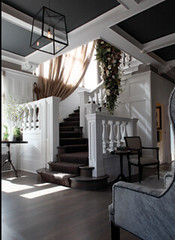 Beams (It's Great To Be Home) Tags: white gray dramatic staircase elegant beams entry nicolehollis