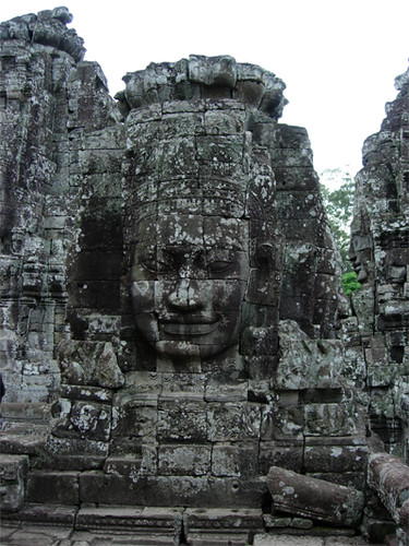Stone Buddha Angkor Wat by Buddhism Now. Photo Janet Novak