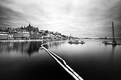 Progress In Progress (diesmali) Tags: city winter white black reflections bay construction sweden stockholm sdermalm sverige hdr riddarfjrden sigma1020mmf456exdchsm canoneos7d
