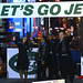 JET BLUE CEO Dave Barger and Crew at JETS PEP RALLY