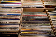 Grid Theory (Orin Zebest) Tags: records collection cardboard boxes thriftstore bins deserthotsprings lps gypsyland 1770mm