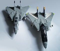 Tomcats (1) (Mad physicist) Tags: model fighter lego aircraft usnavy tomcat 136 grumman f14a