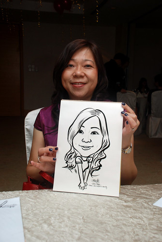 caricature live sketching for birthday party 220110 - 10