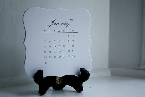 calendar, stand