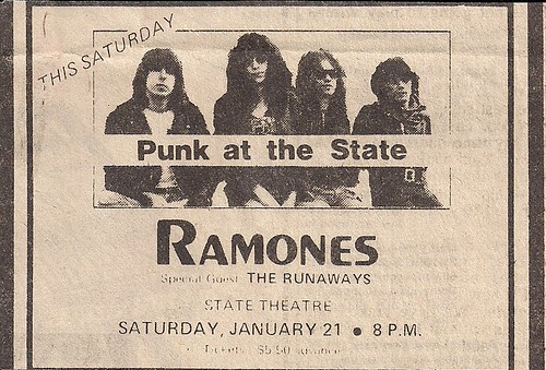 01/21/78 Ramones/The Runaways @ Minneapolis, MN (Ad)