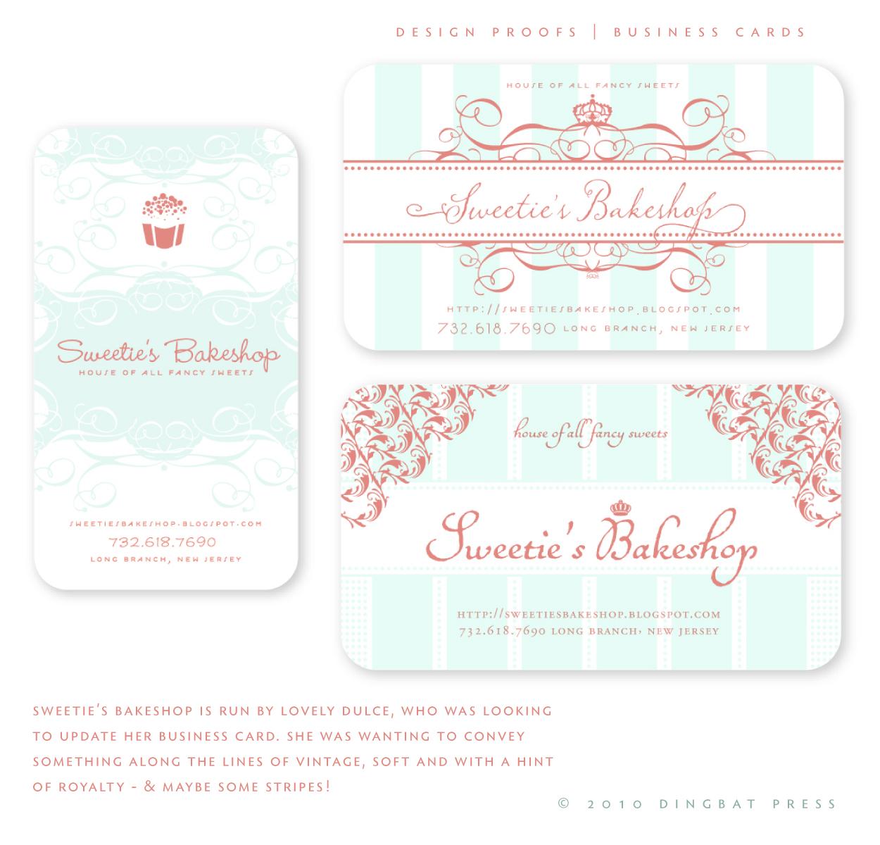 Sweeties Bakeshop, Design ProofsRI
