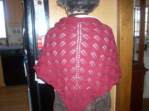 Mom's Kiri Shawl, Back