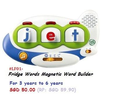 Fridge Words Magnetic Word Builder SGD 50.00