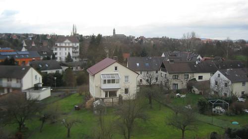 Blick aus der neuen Wohnung in Kassel