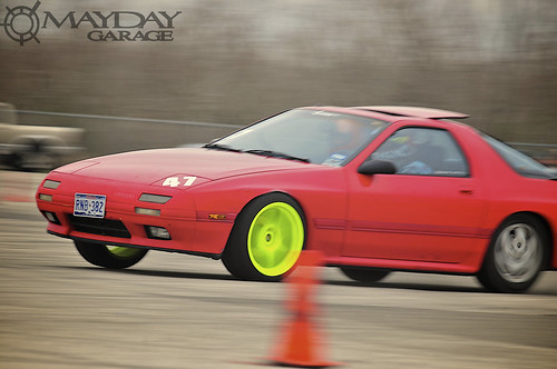 Theres no missing this N/A FC with the super bright tennis ball colored rims!