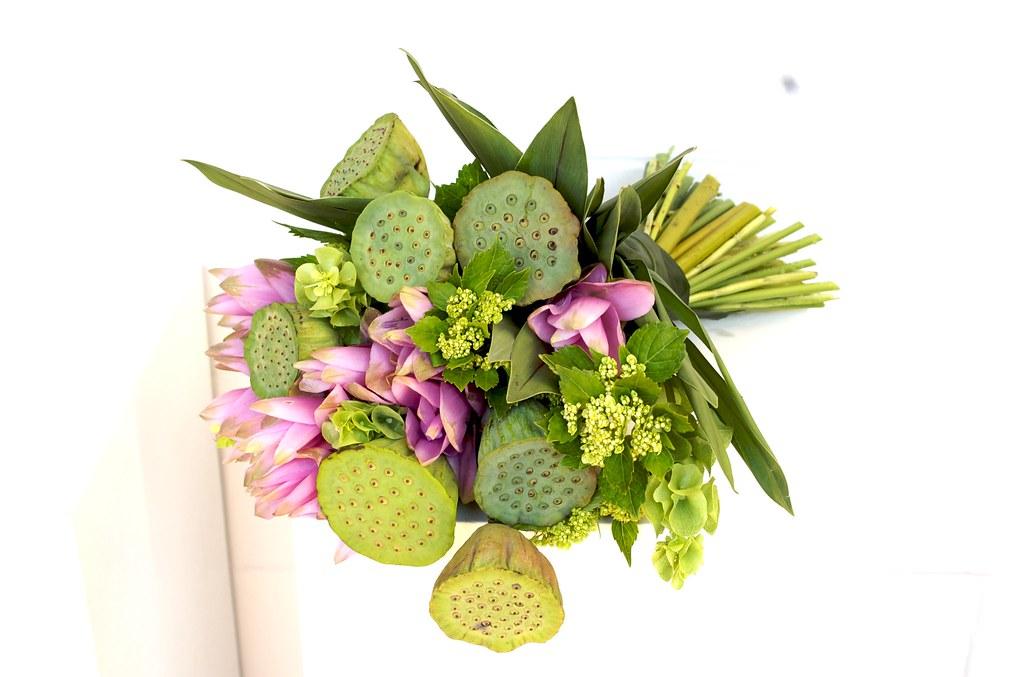 Bouquet verde e rosa