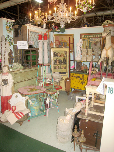 My Booths/Spaces #205 & #189 at Wertz Brothers Antique Mart, Santa Monica California
