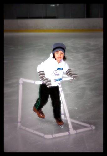 Livie's 1st time ice skating!