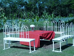 Outdoor seating for lunch and dinner (flyingkitesglobal) Tags: mountains home children flying kenya center kites orphan academy orphaned aberdare childrens kinangop njabini
