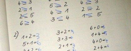 Mathe in der ersten Klasse