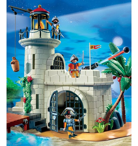 Playmobil Fortress with lighthouse_