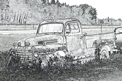Ford F-3 Pickup, 1948-50 Period (John H Bowman) Tags: ford minnesota july trucks 2008 pickups shevlin fordtrucks oldtrucks clearwatercounty canon24105l arteffects july2008 fordpickups fordf3