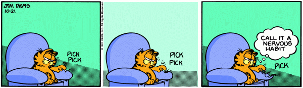 Garfield Minus Arbuckle, October 21, 1981