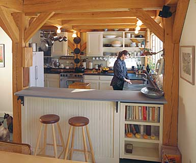 lovely timberbeamed kitchen