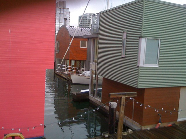 Floating houses Granville Island