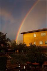 Double rainbow at Dreamworks (Lucas Janin | www.lucasjanin.com) Tags: california blue red sky usa cloud color green rain campus rainbow nikon glendale outdoor pluie vert ciel 40mm f80 nikkor dreamworks doublerainbow iso1600 lightroom dreamworksanimation nikond700 lucasjanin afsnikkor2470mmf28ged sec