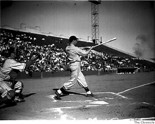 Joe DiMaggio at Seals Stadium