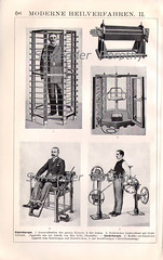 1906 Latest Physical Therapy Equipment (SurrendrDorothy) Tags: old people blackandwhite art illustration vintage germany print weird europe antique maine machine science ephemera health human doctor german medicine therapy etsy fitness decor healing tool homedecor invention steampunk treatment lithograph artfire homegoods surrenderdorothy internationalshipping raymondmaine zibbet