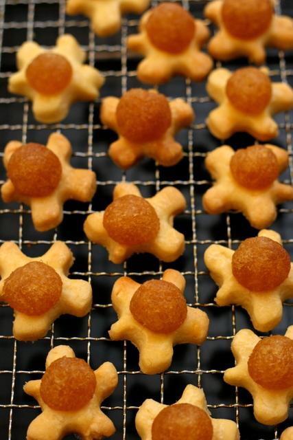 Funky flower or figures? Just pineapple tarts