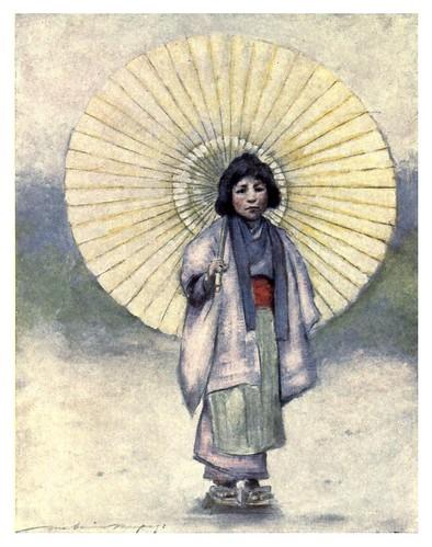 012-La niña y la sombrilla-Japan  a record in color-1904- Mortimer Menpes