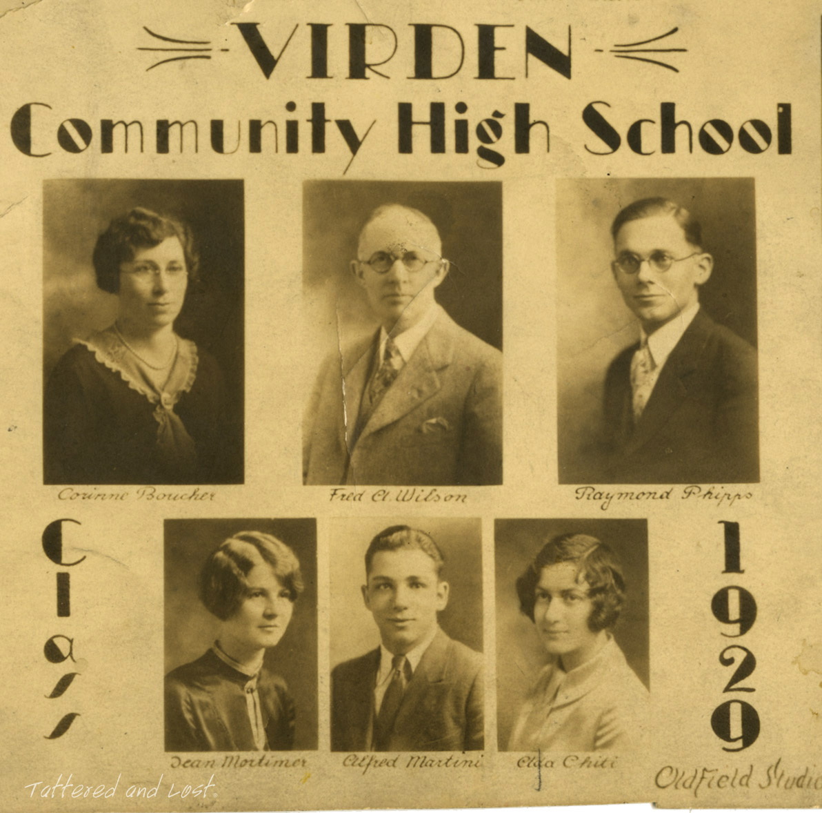 Virden High School 1929_tatteredandlost